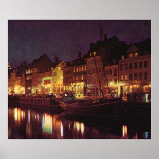 Kopiavintage Danmark, Köpenhamn, strand Posters