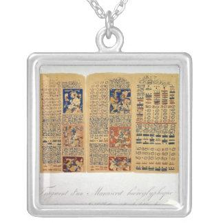 Kopiera av ett fragment av den Dresden codexen Silverpläterat Halsband