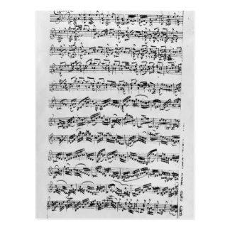 Kopiera av 'Partita i D-minderårigen för Violin Vykort