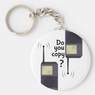 Kopierar du? rund nyckelring