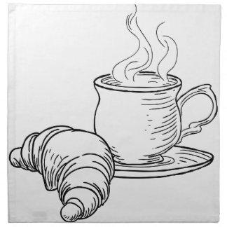 Kopp av Retro stil för tea- och giffelvintage Tygservett