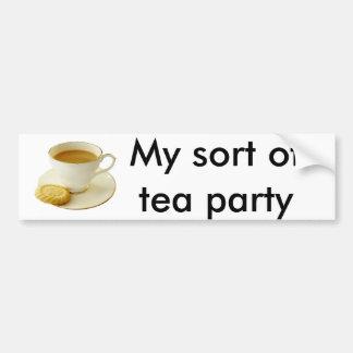 Kopp av tea med kakan bildekal