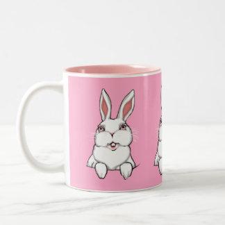 Kopp för kanin för kopp för kaffe för Två-Tonad mugg
