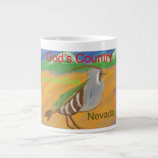 Kopp för mugg för kaffe för Nevada bergQuail Jumbo Mugg