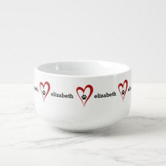 Kopp för Soppa för personligdjurälskaretassar