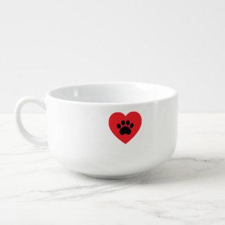 Kopp för Soppa för tasstryckhjärta