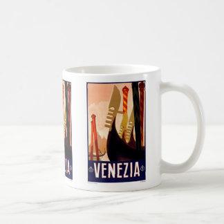 Kopp-Vintage Venezia, italien, annonsering Kaffemugg