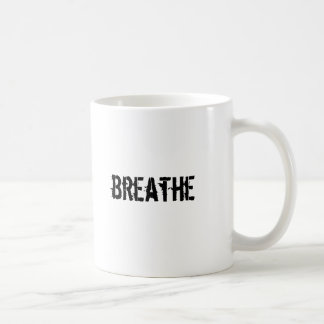 koppla av, andas muggen kaffemugg