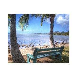 Koppla av - Honolulu östliga sida Canvastryck