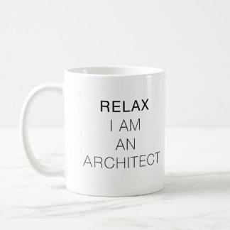 Koppla av I-förmiddagen en arkitekt Vit Mugg