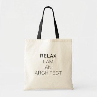 Koppla av I-förmiddagen som en arkitekt hänger lös Tygkasse