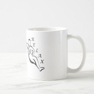 Koppla av muggen kaffemugg