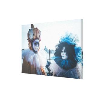 Koppla ihop av karneval maskerar i Venedig, Canvastryck