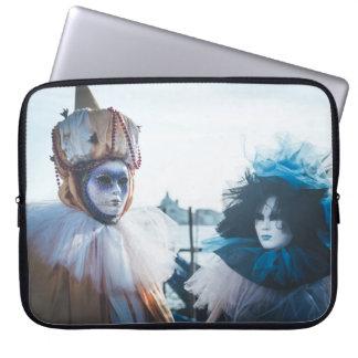Koppla ihop av karneval maskerar i Venedig, Laptop Fodral
