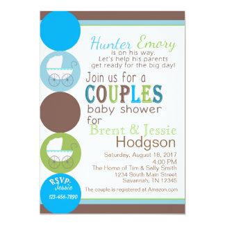 Koppla ihop baby shower 12,7 x 17,8 cm inbjudningskort