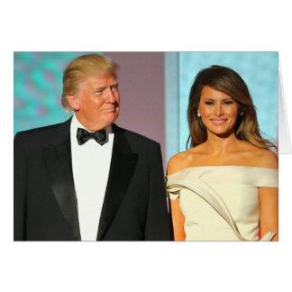 Koppla ihop först den Donald och Melania Hälsningskort