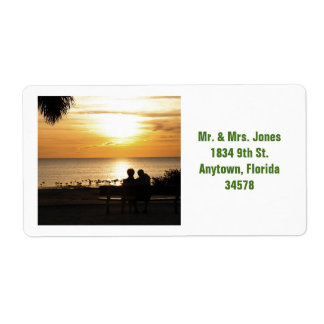 Koppla ihop i etikett för Florida solnedgångadress Fraktsedel