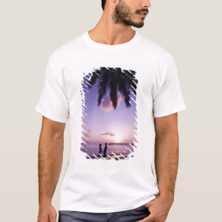 Koppla ihop på stranden, Windjammer landning, St T-shirts