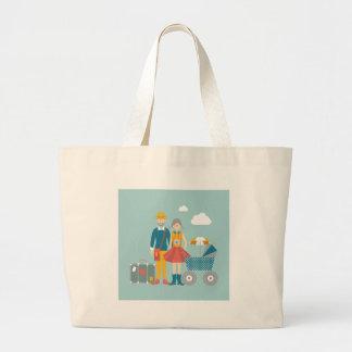 Koppla ihop resanden med barnvagnen jumbo tygkasse