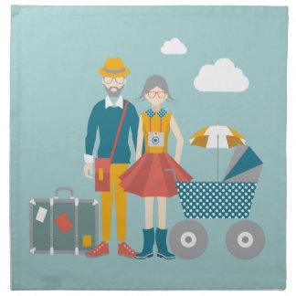 Koppla ihop resanden med barnvagnen tygservett