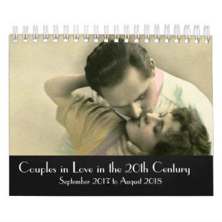 Kopplar ihop förälskat i det 20th århundradet kalender