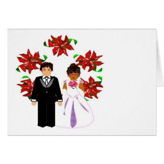 Kopplar ihop Interracial bröllop för jul med OBS Kort