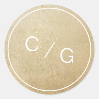 Kopplar ihop redigerbara minimalist moderna för runt klistermärke