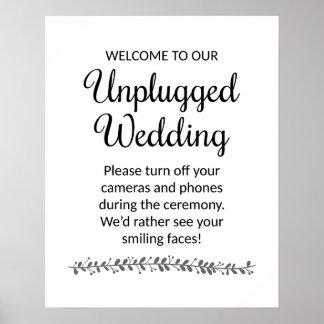 Kopplat från gifta sig ceremoni underteckna - poster