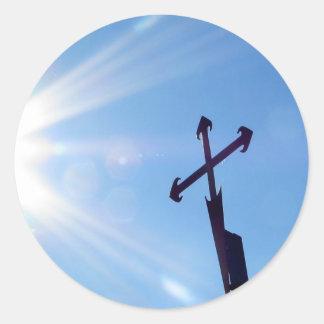 Kor av St James klistermärkear Runda Klistermärken
