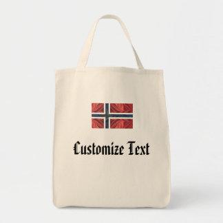 Kor för skandinav för norsk flagganorge ingen nord mat tygkasse