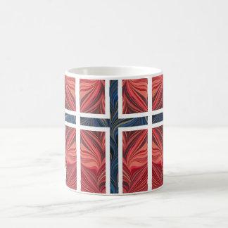 Kor för skandinav för norsk flagganorge ingen nord kaffe mugg