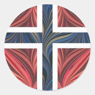 Kor för skandinav för norsk flagganorge ingen runt klistermärke