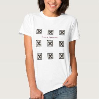 Kor i T-tröja för Diamond™ kristen designdamer Tshirts