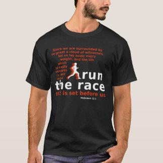 Kör mörk-färgade t-skjortan för tävlinghebréer tröja