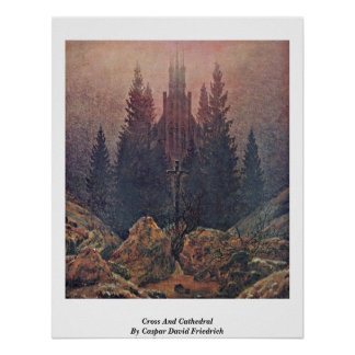 Kor och domkyrka av Caspar David Friedrich Posters