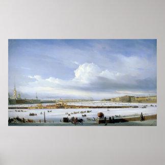 Köra på Nevaen, 1854 Poster