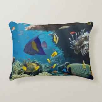 Korall och fisk i det röda havet, egypten prydnadskudde