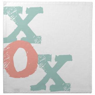 Korall- och för Mint XOX bröllop Tygservett