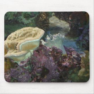 Korallrevoljemålning Mousepad Musmatta