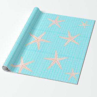 Korallsjöstjärna på Aquablått Presentpapper