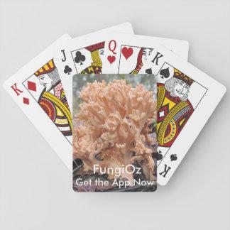 Korallsvampar som leker sånger spel kort