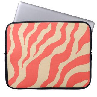 Korallzebra trycklaptop sleeve laptopskydd fodral