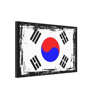 Korea flagga canvastryck