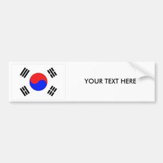 KOREA FLAGGAbildekal Bildekal