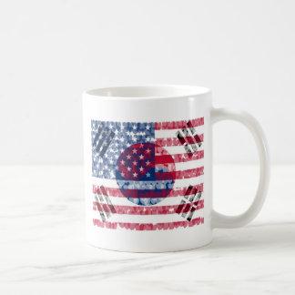 Korean-Amerikan flaggamugg Kaffemugg