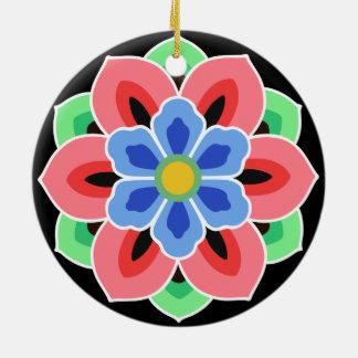 Koreansk Dancheong blomma Julgransprydnad Keramik
