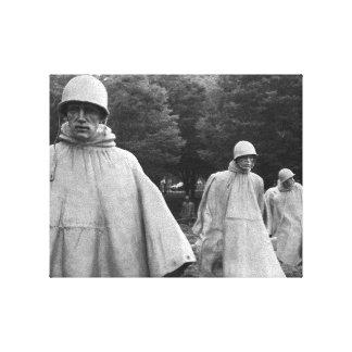 Koreansk sträckt kanvastryck för krig minnesmärke