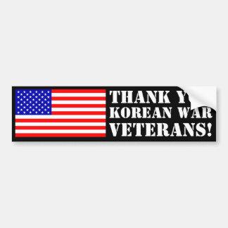 Koreanska krigveteran för tack! bildekal