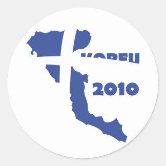 korfu 2010 rund klistermärke