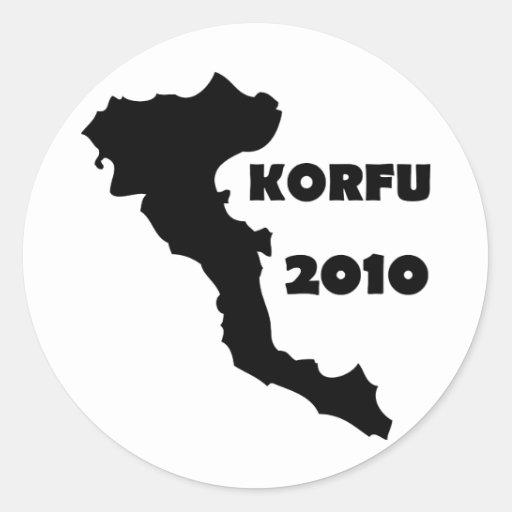 korfu 2010 runda klistermärken